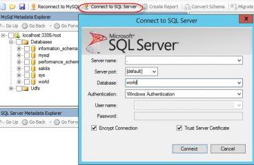Migrate Database from SQL Server to MySQL