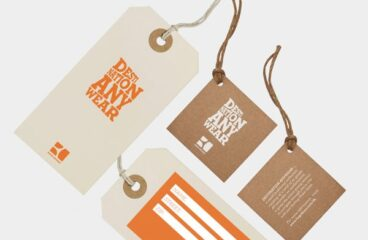What information must be displayed on hanging tags